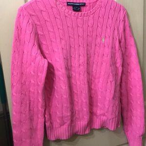 Ralph Lauren cotton loose sweater size L pink